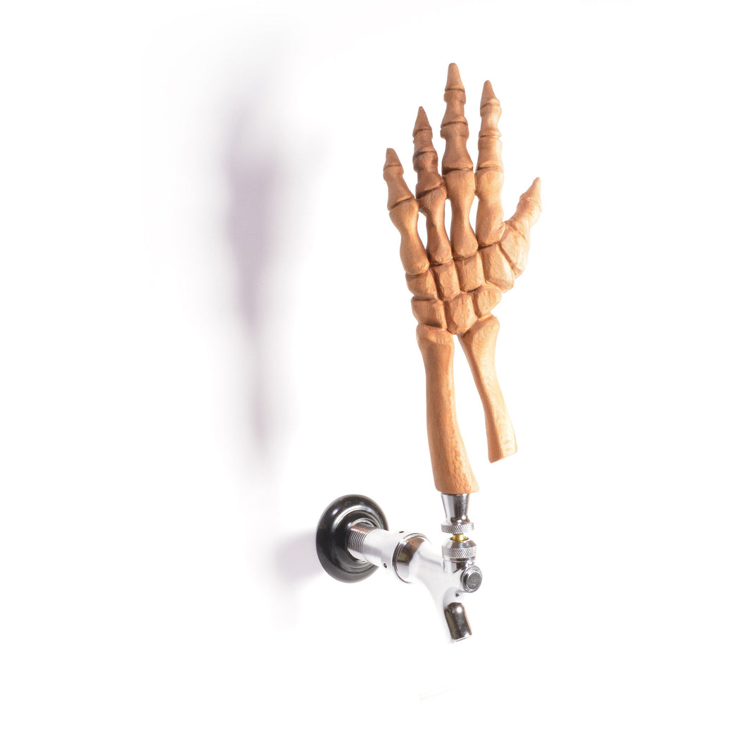 Skeleton Hand Tap Handle