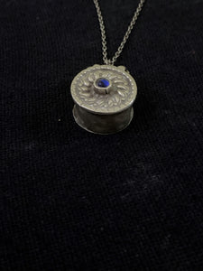 Vintage Silver Small Round Box Pendant