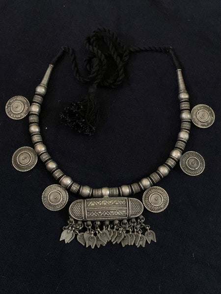 Silver Necklace With Box Pendant