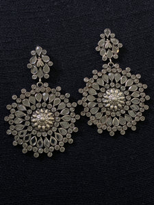 Silver Earrings with Zircons