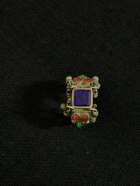Vintage Square Blue Stone Ring