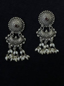 Silver Nakash Work Earrings