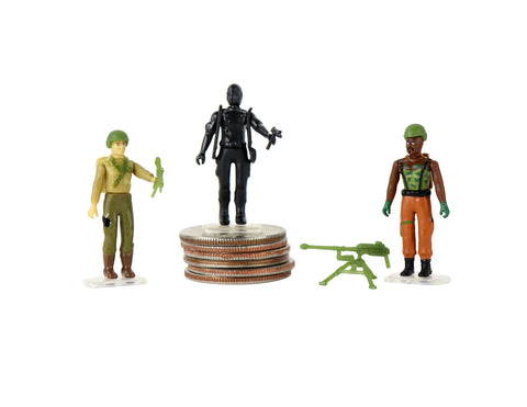 World's Smallest G.I. Joe Vs. Cobra Set of 3 Micro Action Figures
