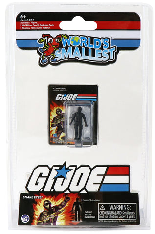 World's Smallest G.I. Joe Vs Cobra Snake Eyes Micro Action  Figure