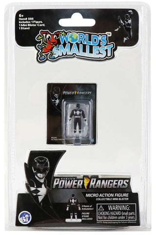 World's Smallest Power Rangers Black Ranger Micro Action Figure
