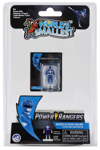World's Smallest Power Rangers Blue Ranger Micro Action Figure