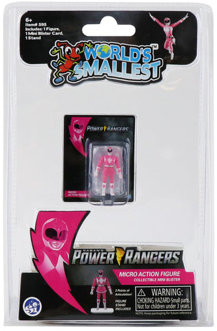 World's Smallest Power Rangers Pink Ranger Micro Action Figure