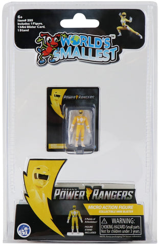 World's Smallest Power Rangers Yellow Ranger Micro Action Figure