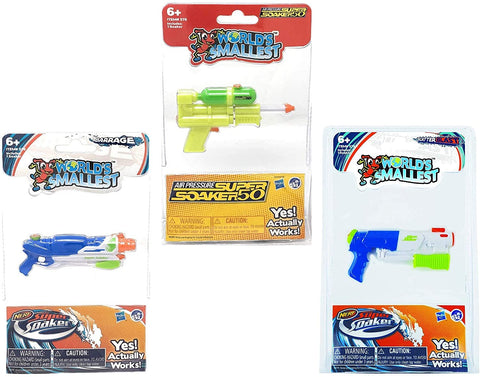 World's Smallest Super Soaker Set of 3