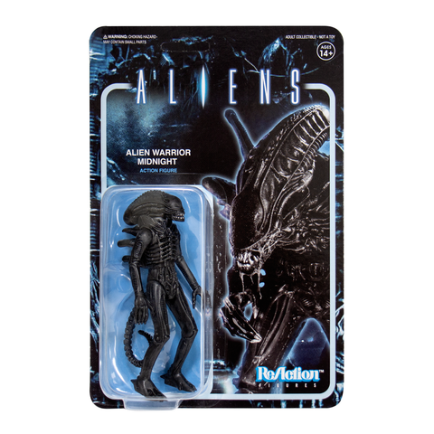 Aliens ReAction Figure - Alien Warrior A (Midnight Black)