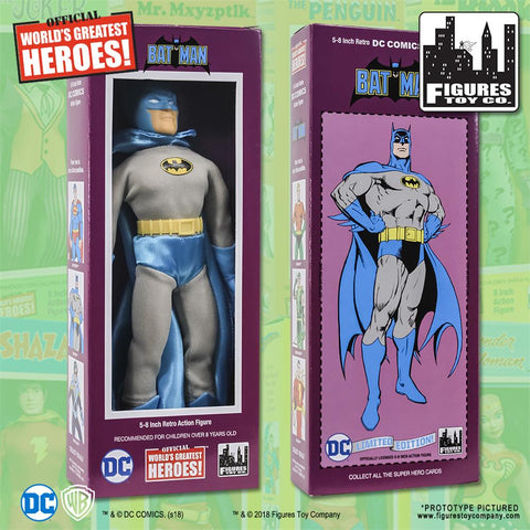 "DC Comics - Batman (Retro 4 New Head Sculpt) 8"" Action Figure"