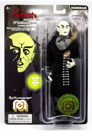 "Mego Horror Wave 6 - Nosferatu 8"" Action Figure (With Black Coat, Glow In The Dark)"