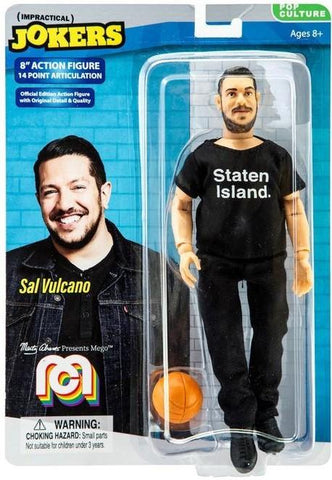 "Damaged Package Mego Impractical Jokers Pop Culture Sal Vulcano 8"" Action Figure"