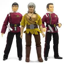 Mego Star Trek Wave 7 - Wrath of Khan - Set of 3 - Includes Admiral Kirk, Captain Spock, and Khan