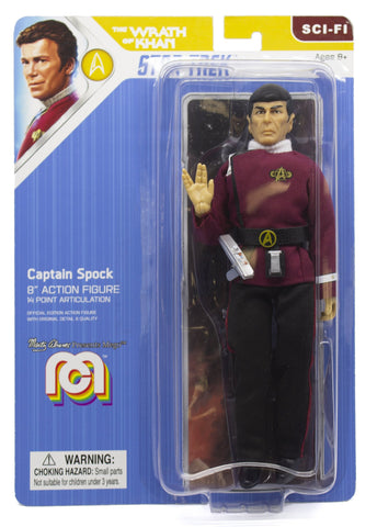 "Mego Star Trek Wave 7 - Wrath of Khan - Captain Spock 8"" Action Figure (Pre-Order Ships March)"