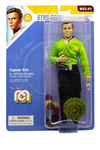 "Mego Star Trek Wave 6 - Captain Kirk 8"" Action Figure (Green Shirt, With Tribbles)"