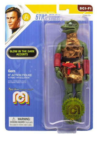 "Mego Star Trek Wave 6 - Gorn 8"" Action Figure (Glow In The Dark Eyes, Spines, And Teeth)"