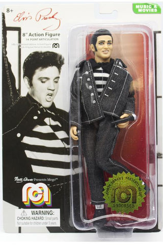 "Mego Music Icons Elvis Presley 8"" Action Figure (Jailhouse Rock Black Denim)"