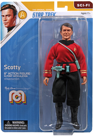 "Mego Star Trek Wave 12 - Scotty 8"" Action Figure (Pre-Order Ships March/April)"