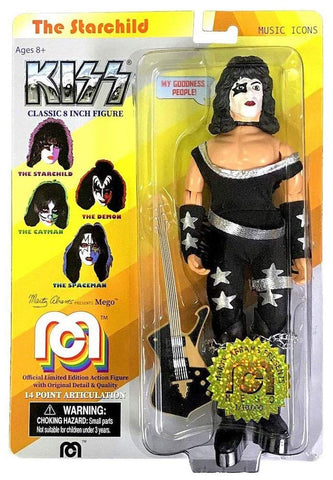 "Damaged Package Mego Music Icons KISS The Starchild 8"" Action Figure"
