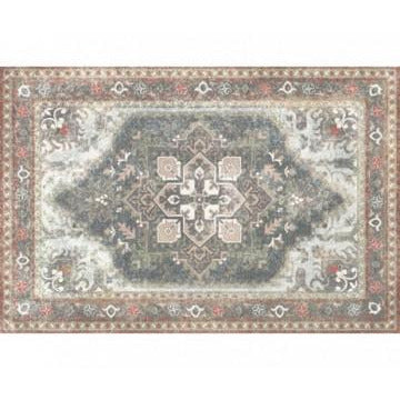 Dark Gray Persian 035305 Floor Mat - Large