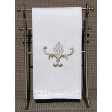 Load image into Gallery viewer, Light Gray Embroidered Pineapple Hand Towel