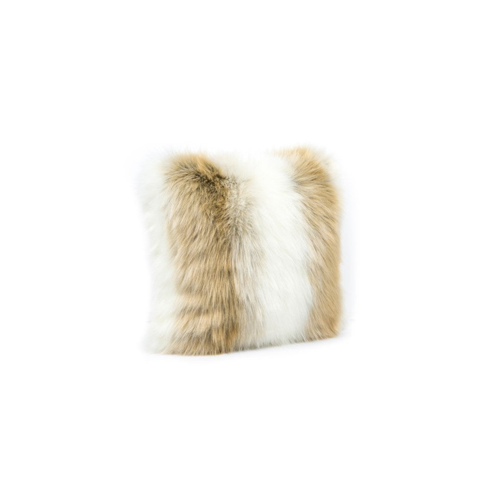 Tan Fabulous Faux Fur Pillow - Arctic Fox