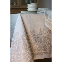 Load image into Gallery viewer, Dark Gray Paisley Tablecloth