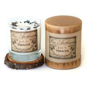 Rosy Brown Tobacco Botanical Candle in Scotch Glass with Gift Box 7oz