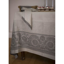 Load image into Gallery viewer, Rosy Brown Gramercy Tablecloth Castor Grey