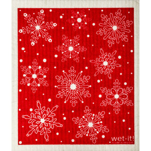 Firebrick Wet-it Cloth - Snowflakes