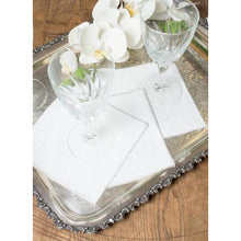 Load image into Gallery viewer, White Smoke Duet Cocktail Napkins (Set of 4)