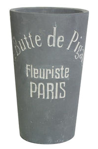 Slate Gray Pigalle Stone Cement Flower Pot Large