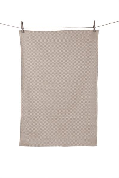Gray Tissage de L'Ouest Traditional French Tea Towel - Grey