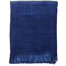 Load image into Gallery viewer, Midnight Blue Corsica Throw