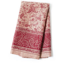 Load image into Gallery viewer, Maroon Paisley Tea Towels