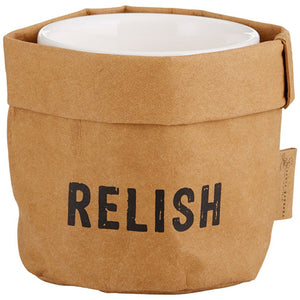 Snow WASHABLE PAPER HOLDER & CERAMIC DISH SET - RELISH