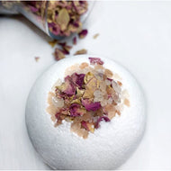 Rosy Brown PINK SEA SALT + ROSE BATH BOMB