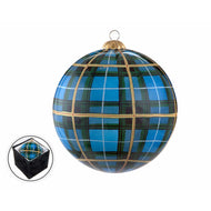 Steel Blue Nova Scotia Tartan - Bauble