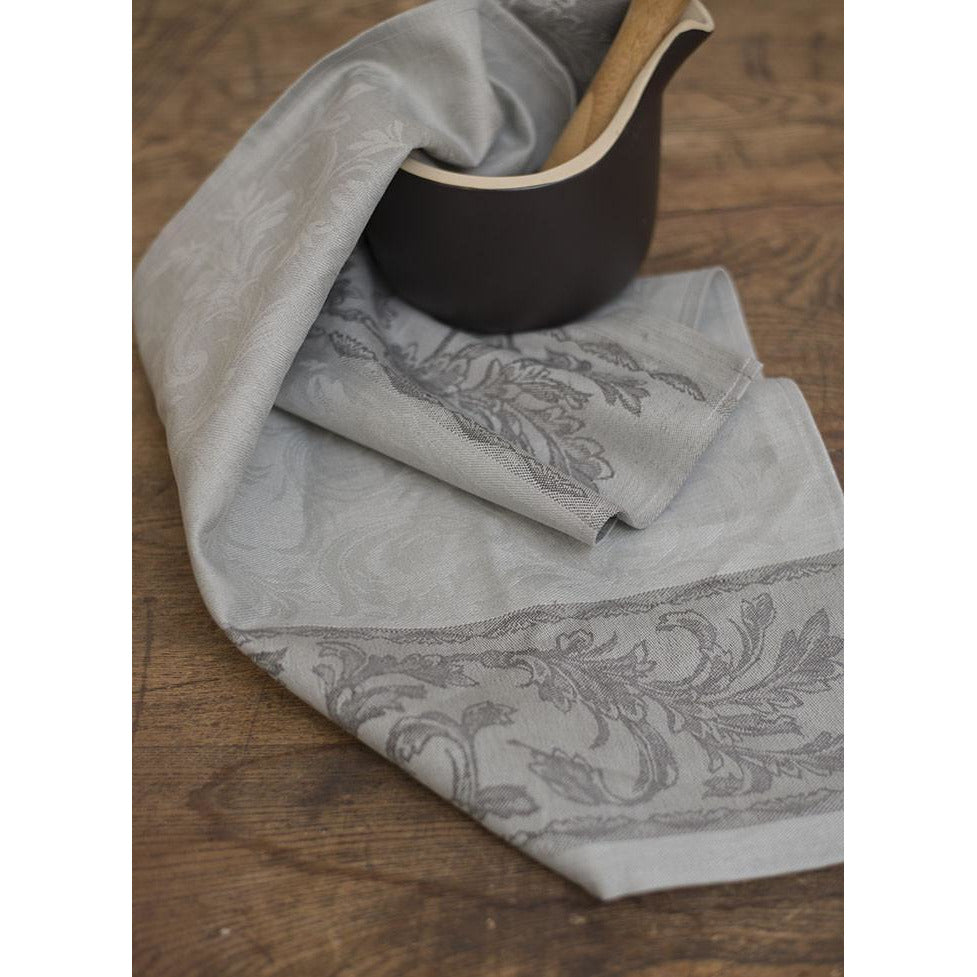 Dark Gray Renesans Tea Towel