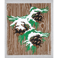 Sea Green Wet-it Cloth - Pine Cones