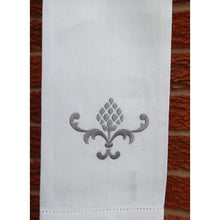 Load image into Gallery viewer, Gray Embroidered Pineapple Hand Towel