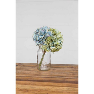 White Smoke Blue-Green Artificial Hydrangeas