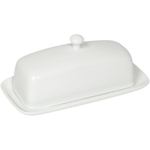 Beige Butter Dish with Lid