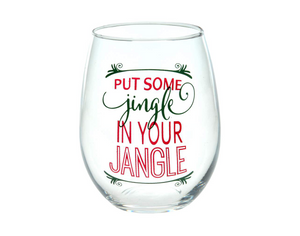 "White Smoke 4.5"" STEMLESS WINE - PUT SOME JINGLE IN YOUR JANGLE"