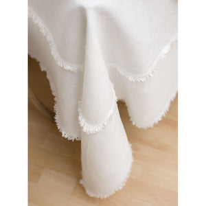 Gray Bilbao Tablecloth White - Custom Order