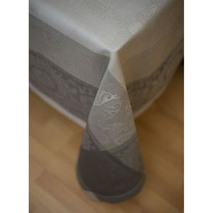 Dim Gray Gramercy Tablecloth Castor Grey