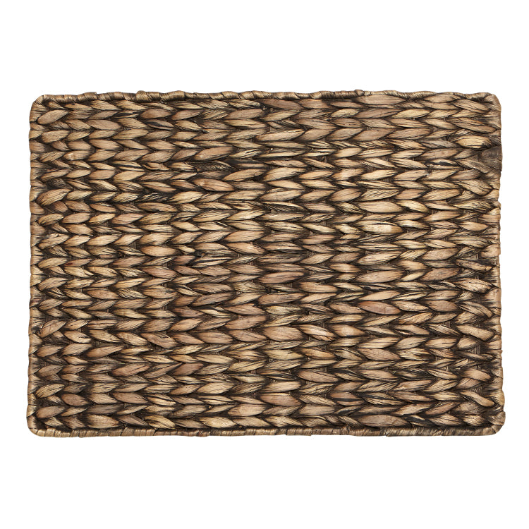 Dim Gray Palma Placemat - Water Hyacinth - Rectangle