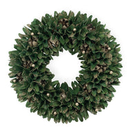 Dark Slate Gray Gold Tip Yuletide Wreath