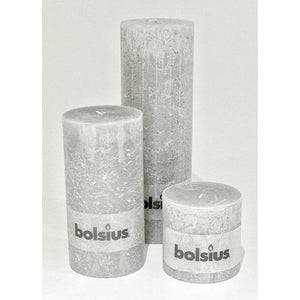 Gray Rustic Pillar Candle - Small - Various Colors